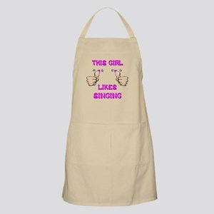 This Girl Likes Singing Apron