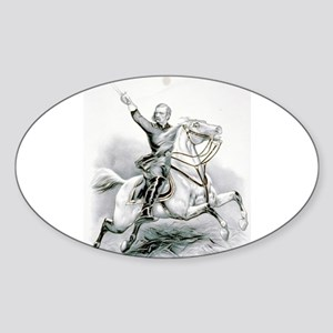 Custer's last charge - 1876 Sticker (Oval)