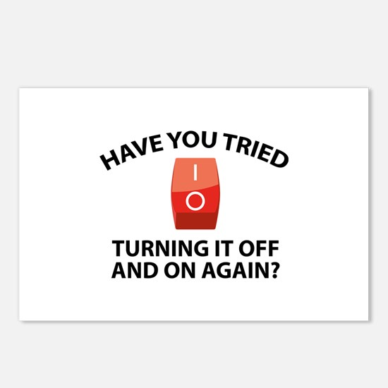 Have You Tried Turning It Off And On Again? Postca