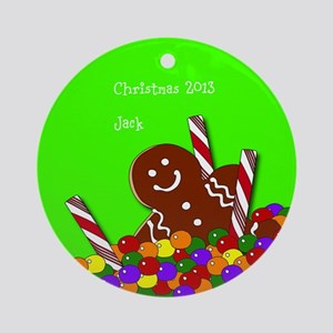 Personalized Gingerbread Christmas Candy Ornament