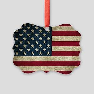 American Flag Picture Ornament