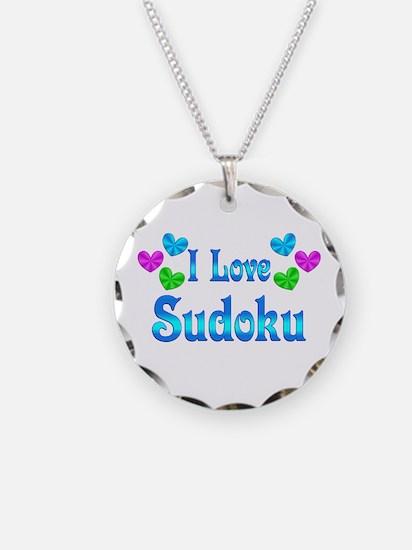 I Love Sudoku Necklace