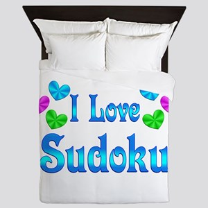 I Love Sudoku Queen Duvet