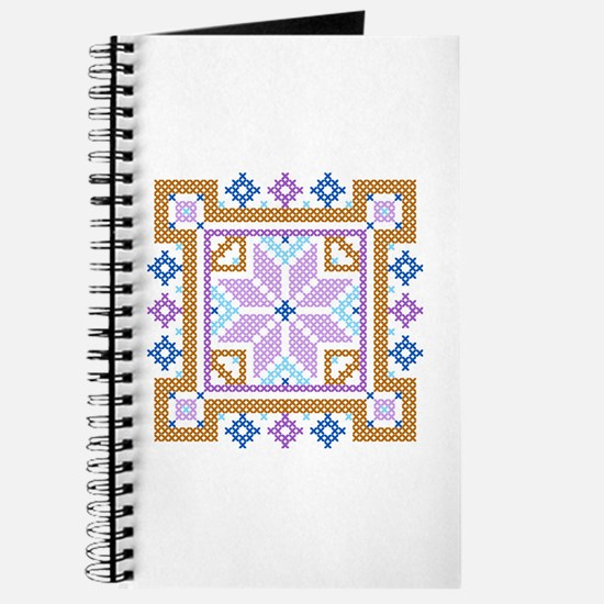Floral Square Cross Stitch Journal