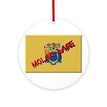 New Jersey Molon Labe Ornament (Round)