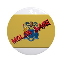 New Jersey Molon Labe Ornament (Round)