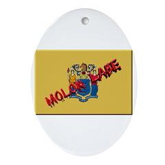 New Jersey Molon Labe Ornament (Oval)