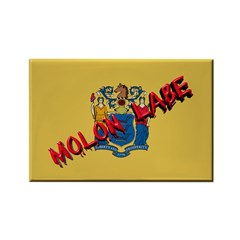 New Jersey Molon Labe Rectangle Magnet