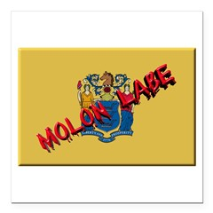 New Jersey Molon Labe Square Car Magnet 3