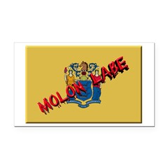 New Jersey Molon Labe Rectangle Car Magnet