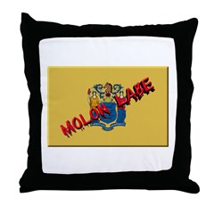 New Jersey Molon Labe Throw Pillow