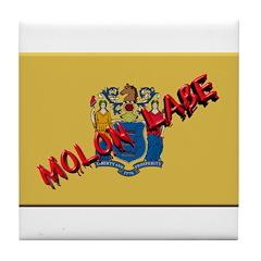 New Jersey Molon Labe Tile Coaster