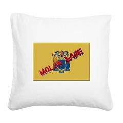New Jersey Molon Labe Square Canvas Pillow