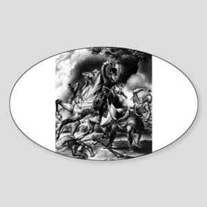 Death of Tecumseh. Battle of the Thames - 1841 Sti