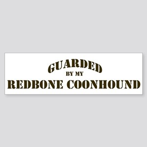 Redbone Coonhound: Guarded by Bumper Sticker