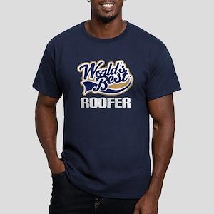 Worlds Best Roofer Men's Fitted T-Shirt (dark)