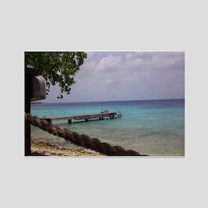 Nice view Curacao pelikan Rectangle Magnet