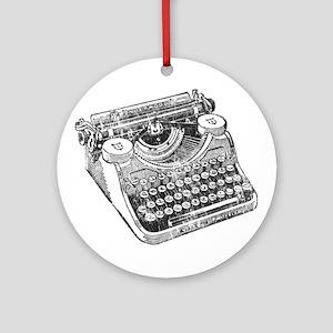 Vintage Underwood Typewriter Ornament (Round)