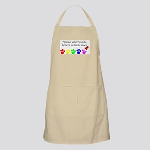 African Lion Hounds Believe BBQ Apron