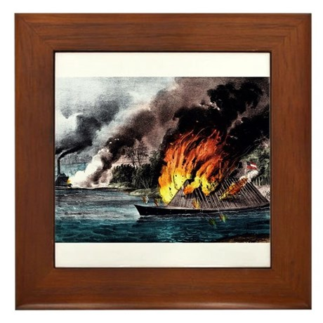 Destruction of the rebel ram Arkansas - 1862 Frame