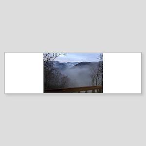 mountains, smokies, foggy mountain Bumper Sticker