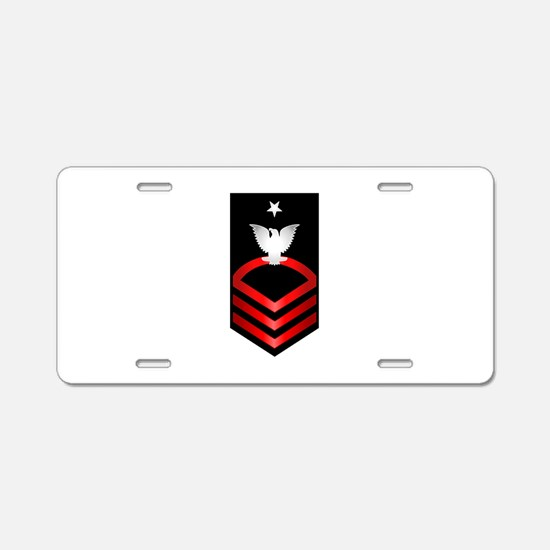 Navy Senior Chief Petty Officer Aluminum License P