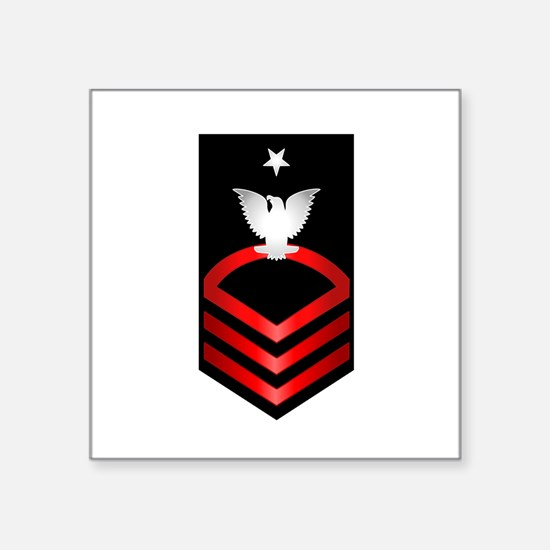 Navy Senior Chief Petty Officer Square Sticker 3""