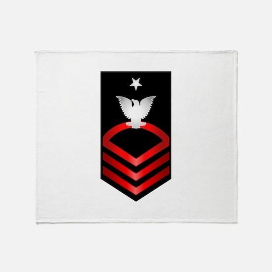 Navy Senior Chief Petty Officer Throw Blanket