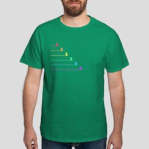 Rainbow Birds in Flight Dark T-Shirt