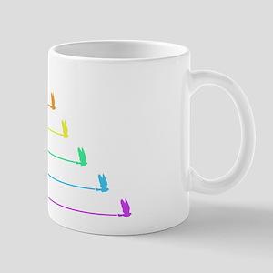 Rainbow Birds in Flight Mug