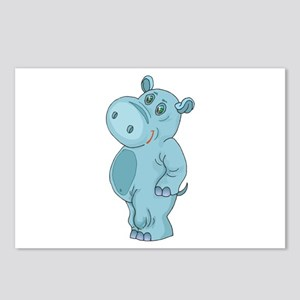 Cute Standing Hippo Postcards (Package of 8)