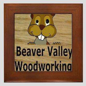 Beaver Valley Woodworking logo Framed Tile