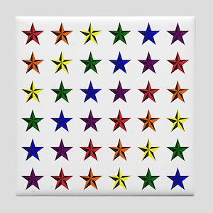 Pride Star Square Tile Coaster