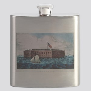 Fort Sumter - Charleston Harbor, S.C. - 1870 Flask
