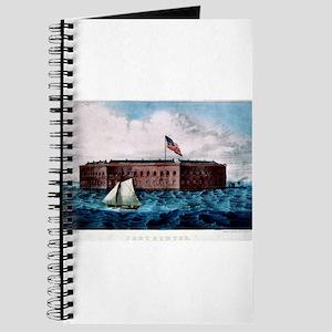 Fort Sumter - Charleston Harbor, S.C. - 1870 Journ