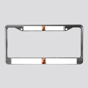Purple Prickly Pear License Plate Frame
