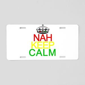 NAH KEEP CALM Aluminum License Plate