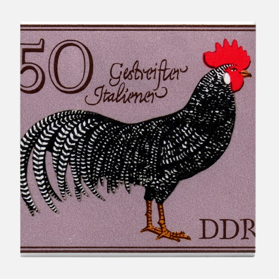 1979 Germany Striped Italian Rooster Stamp Tile Co