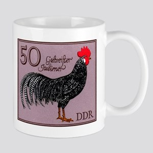 1979 Germany Striped Italian Rooster Stamp Mug