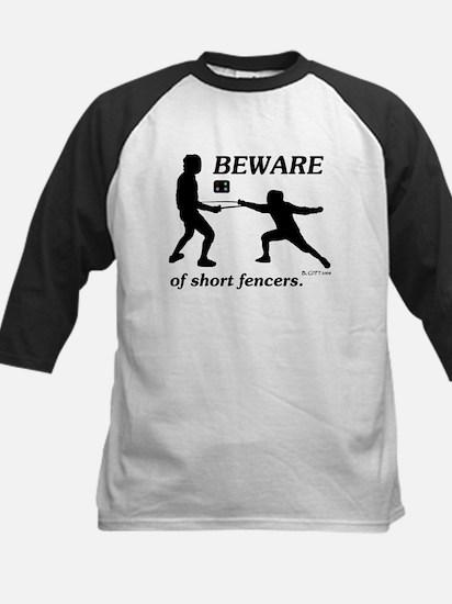 Beware of Short Fencers Baseball Jersey