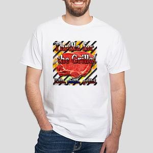 """Thrilla For The Grilla!"" White T-Shirt"