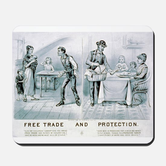 Free trade and protection - 1888 Mousepad