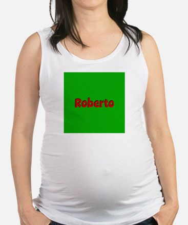 Roberto Green and Red Maternity Tank Top