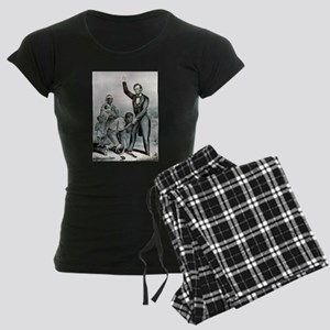 Freedom to the slaves - 1863 Women's Dark Pajamas