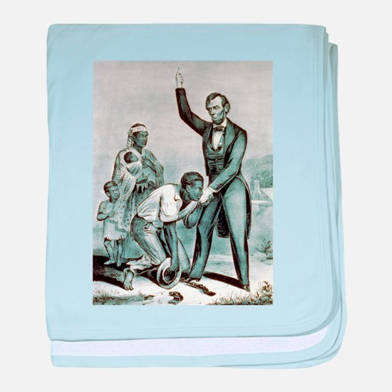 Freedom to the slaves - 1863 baby blanket
