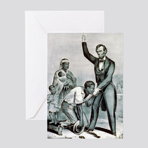 Freedom to the slaves - 1863 Greeting Card