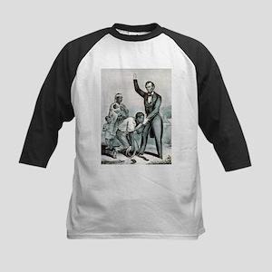 Freedom to the slaves - 1863 Kids Baseball Tee