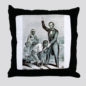 Freedom to the slaves - 1863 Throw Pillow