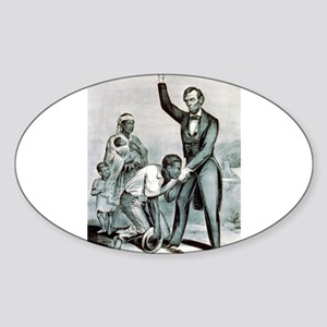 Freedom to the slaves - 1863 Sticker (Oval)