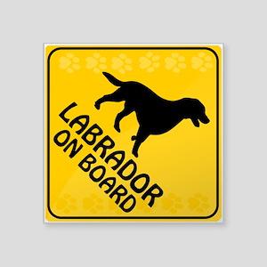 """Labrador On Board Square Sticker 3"""" x 3"""""""